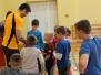 """1-4 klasių mokinių badmintono turnyras """"Revuonai 100"""" (2018 05 22)"""
